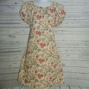 GAP KIDS  Beige Floral Dress Size 7-8